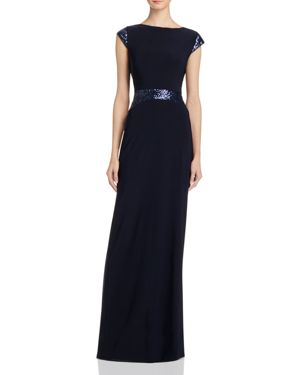 Avery G Sequin-Embellished Gown