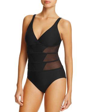 Amoressa Tetons Mesh Inset Maillot One Piece Swimsuit