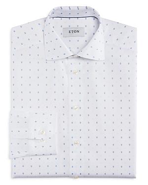 Eton of Sweden Mustachioed Racer Print Slim Fit Dress Shirt