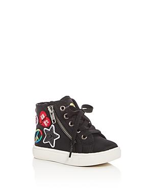 Steve Madden Girls' Emoji Part 2 High Top Sneakers - Toddler