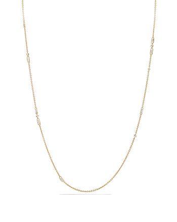 David Yurman - Supernova Chain Necklace with Diamonds in 18K Gold