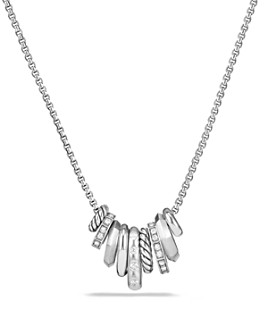 David Yurman -  Stax Rondelle Pendant Necklace with Diamonds