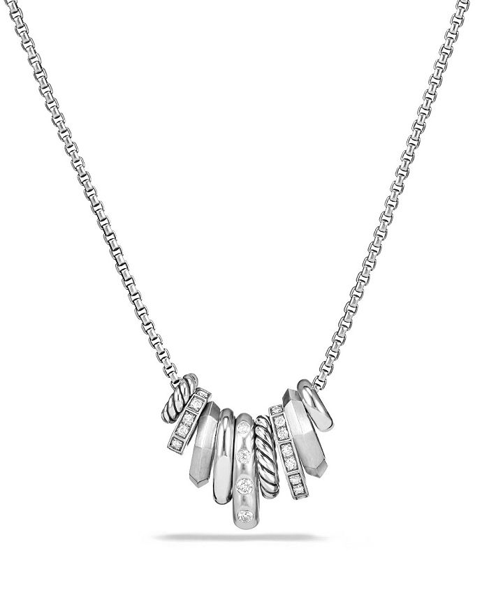 David Yurman - Stax Rondelle Pendant Necklace with Diamonds