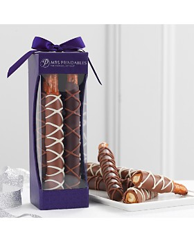 Mrs Prindables - Chocolate & Caramel Dipped Pretzels, 4 Piece