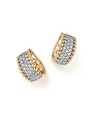 Diamond Beaded Earrings in 14K Yellow Gold, .75 ct. t.w. - 100% Exclusive