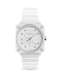 Bell & Ross - BR S White Ceramic Diamond Watch, 39mm