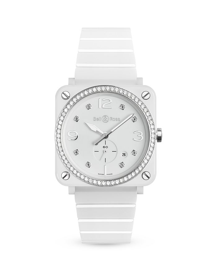 Bell & Ross - BR S White Ceramic Diamond Watch, 39mm