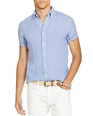 Polo Ralph Lauren Checked Linen Classic Fit Button-Down Sport Shirt