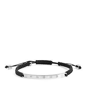 Tateossian Macrame Logo Bracelet
