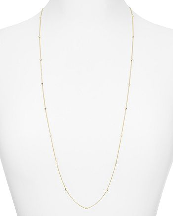 Argento Vivo - Round Chain Station Necklace, 36""