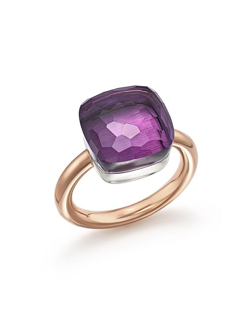 Pomellato - Nudo Maxi Ring with Amethyst in 18K Rose and White Gold