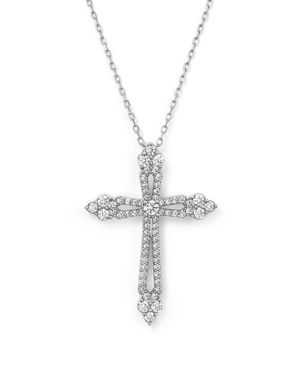 Diamond Cross Pendant Necklace in 14K White Gold, .75 ct. t.w. - 100% Exclusive