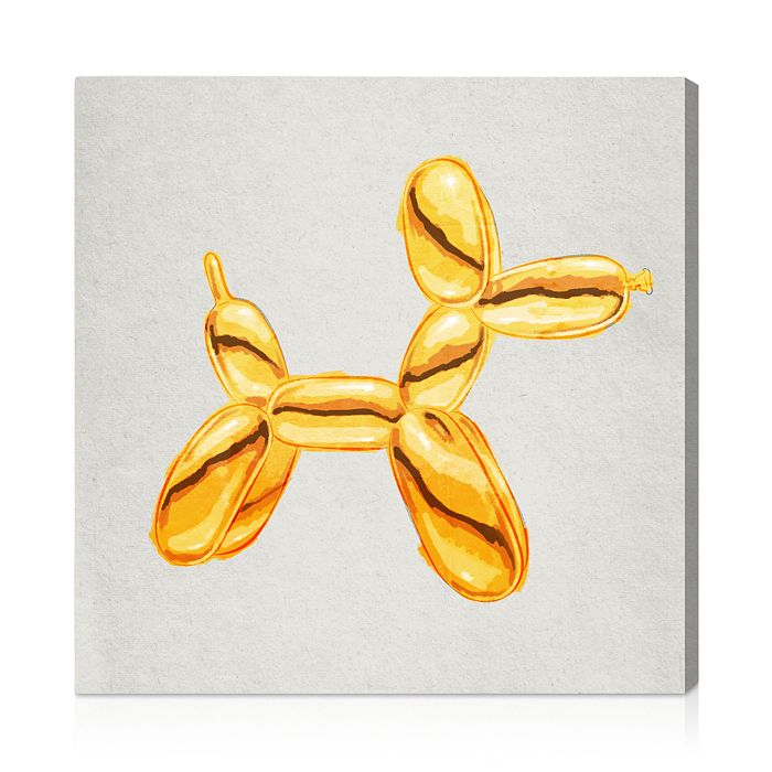 "Oliver Gal - Balloon Dog Lux Wall Art, 20"" x 20"""
