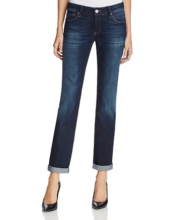 Mavi - Emma Slim Boyfriend Jeans in Deep Brushed Vintage