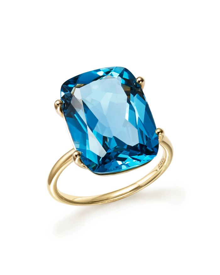 Bloomingdale's London Blue Topaz Statement Ring in 14K Yellow Gold - 100% Exclusive  | Bloomingdale's