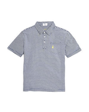 Johnnie-o Boys' Striped Jersey Polo Shirt - Little Kid, Big Kid