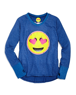 So Nikki. Girls' Love Emoji Graphic Shirt - Big Kid