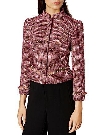 82376849be954 KAREN MILLEN - Tweed Fringe Jacket