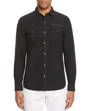 True Religion Western Regular Fit Button-Down Shirt