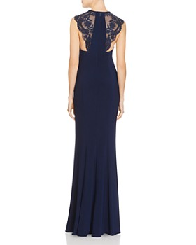 Faviana Couture - Lace Shoulder Gown - 100% Exclusive