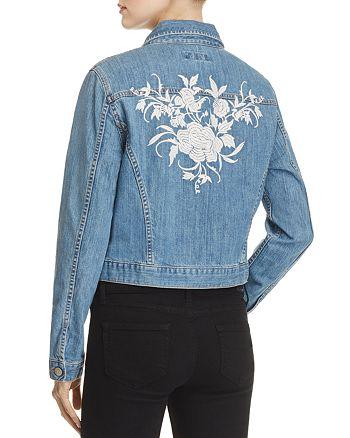 Karen Kane - Floral Embroidered Denim Jacket - 100% Exclusive