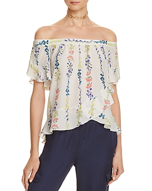 Bcbgmaxazria Floral Off-the-Shoulder Top - 100% Exclusive