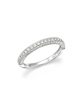 Bloomingdale's - Diamond Micro-Pavé Band in 14K White Gold, 0.25 ct. t.w.- 100% Exclusive