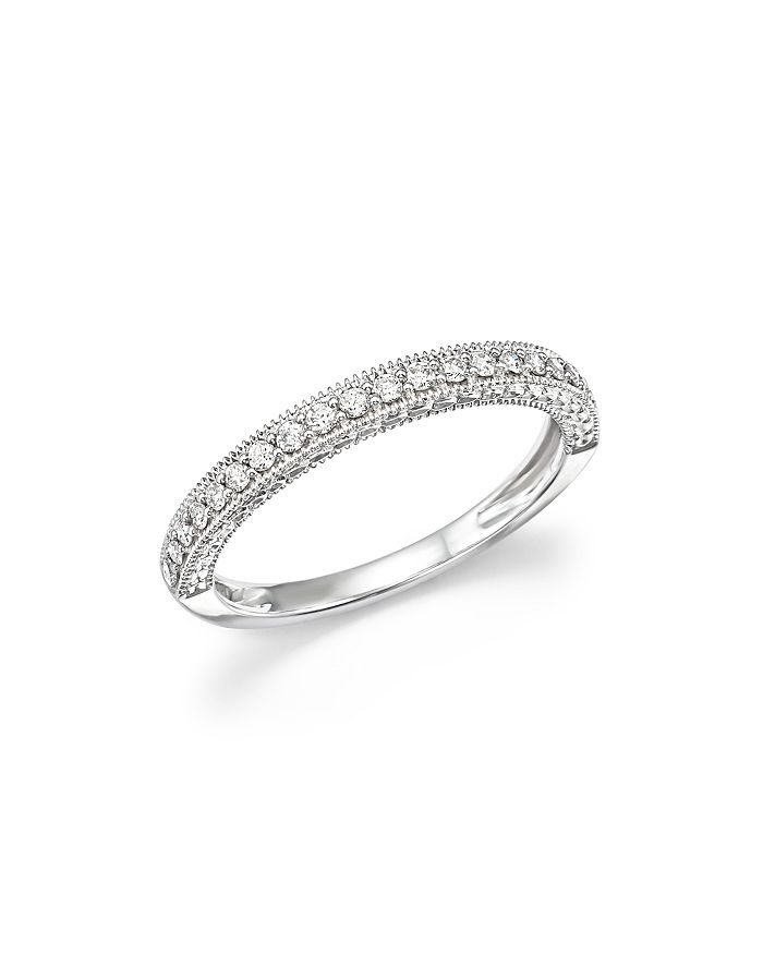 Bloomingdale's - Diamond Micro-Pavé Band in 14K White Gold, 0.25 ct. t.w. - 100% Exclusive