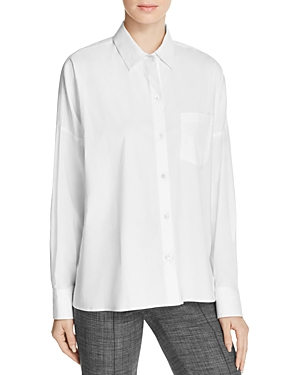 Theory Lourah Stretch Cotton Shirt