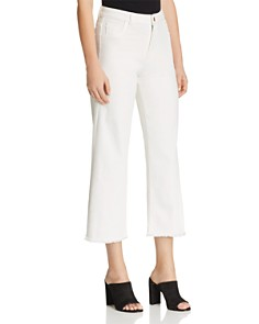 DL1961 - Hepburn Crop Wide-Leg Jeans in Egg Shell