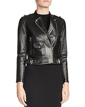 Maje Bass Leather Moto Jacket