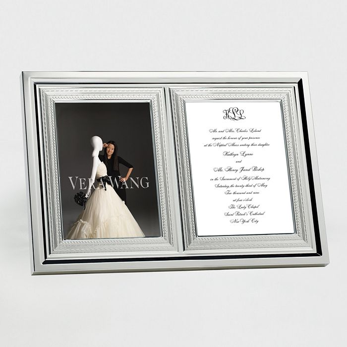 """Vera Wang - for Wedgwood """"With Love"""" Invitation Frame"""