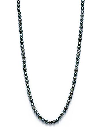 """Bloomingdale's - Cultured Tahitian Black Pearl Endless Necklace, 36"""" - 100% Exclusive"""