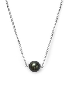 "Bloomingdale's - Cultured Tahitian Black Pearl Pendant Necklace on 14K White Gold, 18"" - 100% Exclusive"
