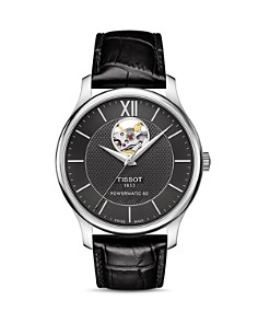 Tissot Tradition Powermatic 80 Open Heart Watch, 40mm - Bloomingdale's_0