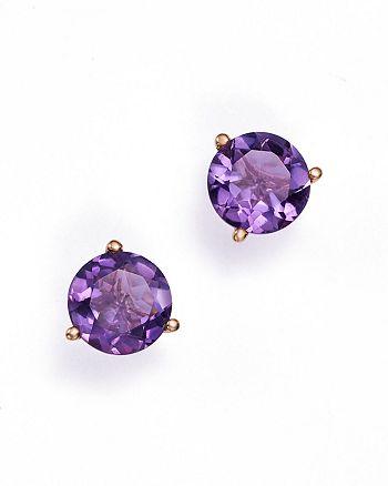 Bloomingdale's - Amethyst Stud Earrings in 14K Rose Gold- 100% Exclusive