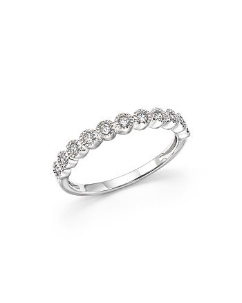 Bloomingdale's - Diamond Milgrain Bezel Stacking Band in 14K White Gold, .25 ct. t.w. - 100% Exclusive