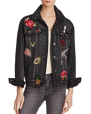 Sunset & Spring Patched Denim Jacket - 100% Exclusive