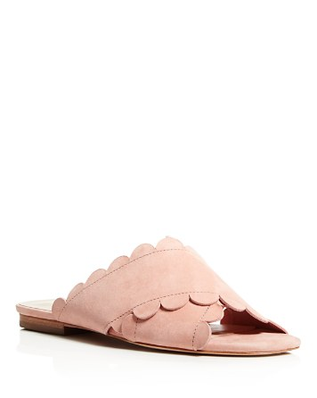 $Isa Tapia Ana Maria Suede Scalloped Slide Sandals - Bloomingdale's