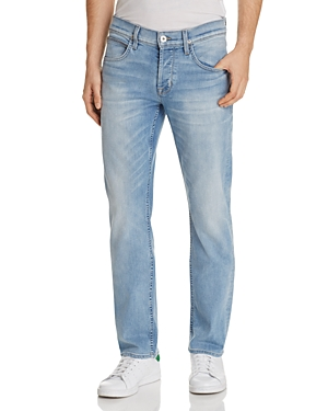 Hudson Byron Straight Fit Jeans in Airforce