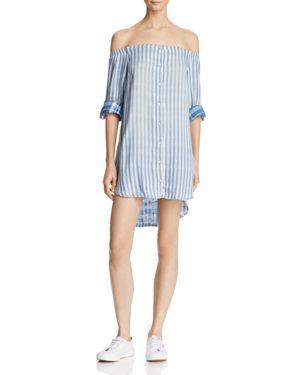 Bella Dahl Off-the-Shoulder Button-Front Dress