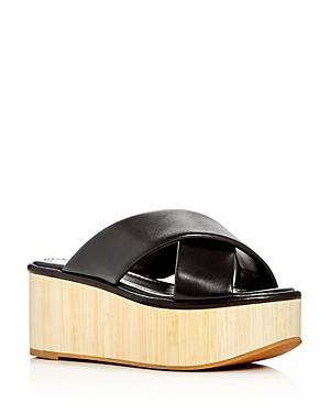 Robert Clergerie Ficeb Crisscross Platform Slide Sandals