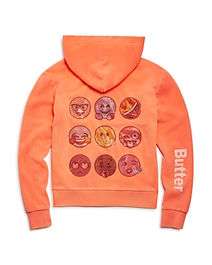 Butter Girls' Embellished Emoji Hoodie - Little Kid