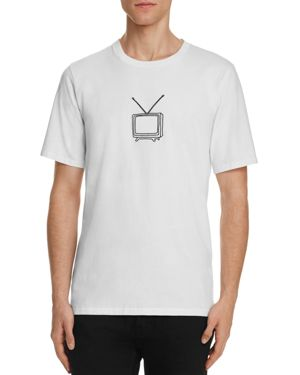 rag & bone Embroidered Tv Graphic Tee