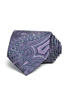 The Men's Store at Bloomingdale's Monochrome Paisley Wide Tie - 100% Exclusive_0