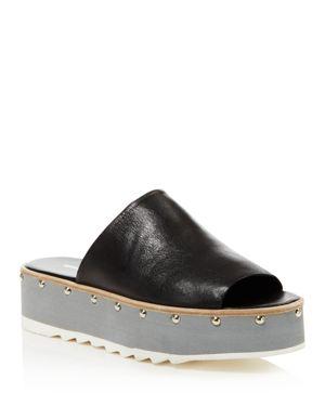 Charles David Float Studded Platform Slide Sandals