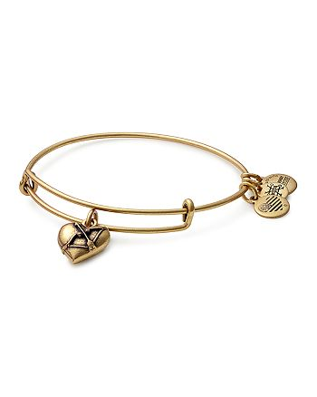 Alex and Ani - Cupid's Heart Charm Expandable Wire Bangle