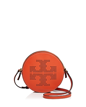 Tory Burch Perforated Logo Leather Crossbody