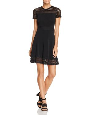 Michael Michael Kors Mesh Panel Dress