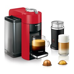 Nespresso - Vertuo Coffee & Espresso Maker by De'Longhi with Aeroccino Milk Frother